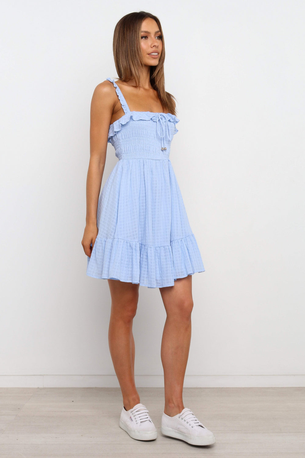 Petal and Pup USA TOPS Tamika Dress - Blue