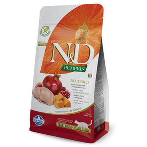Farmina N&D Pumpkin Cat QUAIL NEUTERED 1.5kg