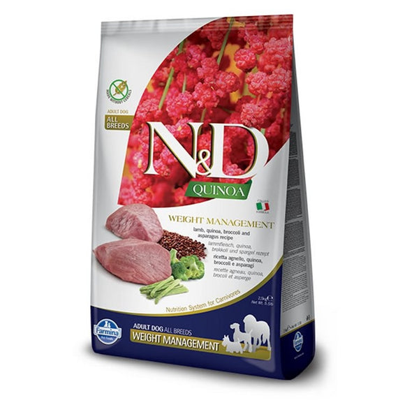 Farmina N&D Dog Quinoa Weight Management LAMB 2.5kg