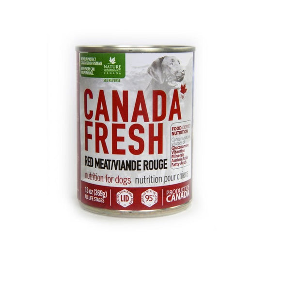 CANADA FRESH Dog LID Red Meat 12/369g