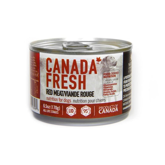 CANADA FRESH Dog LID Red Meat 24/170g