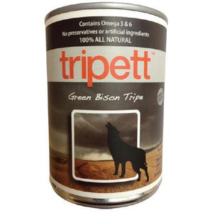 TRIPETT Dog Green Bison Tripe 12/396g