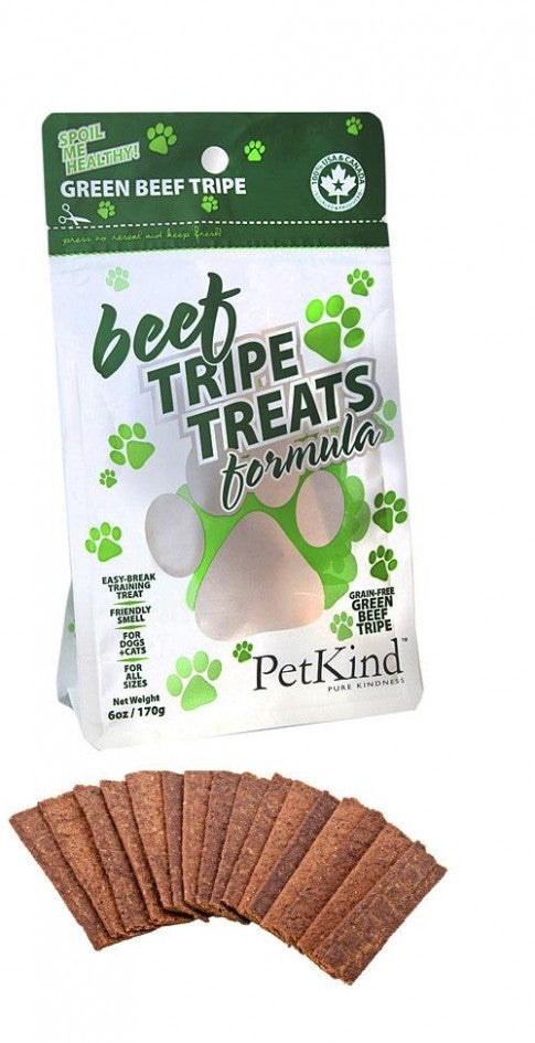 PETKIND Grain Free Beef Tripe Dog Treats - 170g