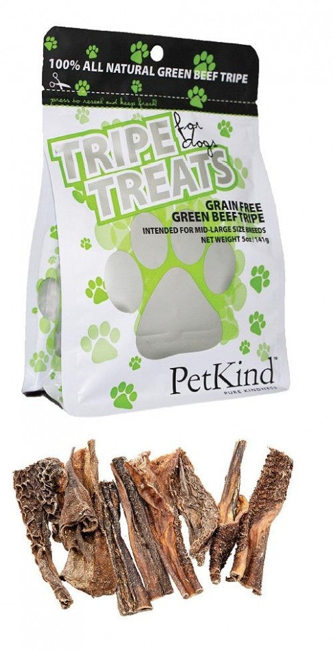 PETKIND Dog Treats Grain Free Green Beef Tripe 141g