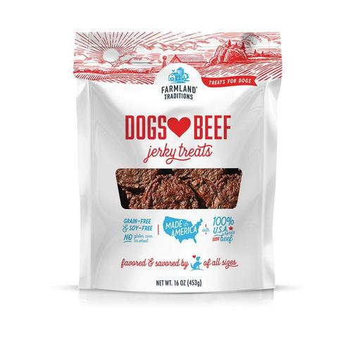 Farmland Traditions - Dogs Love Beef Jerky Treats