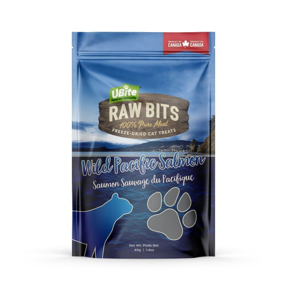 UBITE RAW BITS Salmon Fillet Cat Treats 80g