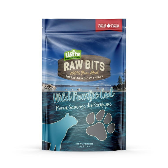 UBITE RAW BITS Cod Fillet Cat Treats 50g