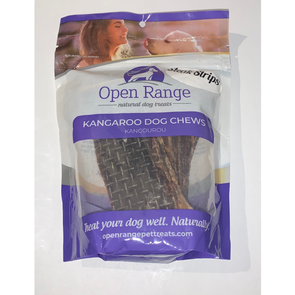Open Range-Kangaroo Dog Chews Steak Strips 100 g