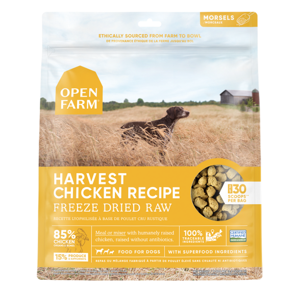 Open Farm Dog Freeze Dried Raw Harvest Chicken 13.5 oz