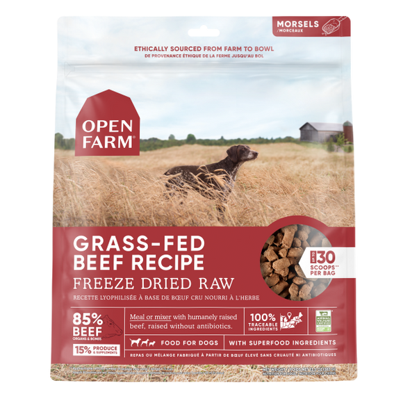 Open Farm Dog Freeze Dried Raw Grass-Fed Beef 13.5 oz