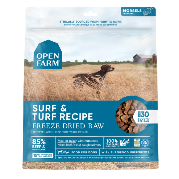 Open Farm Dog Freeze Dried Raw Surf & Turf 13.5 oz