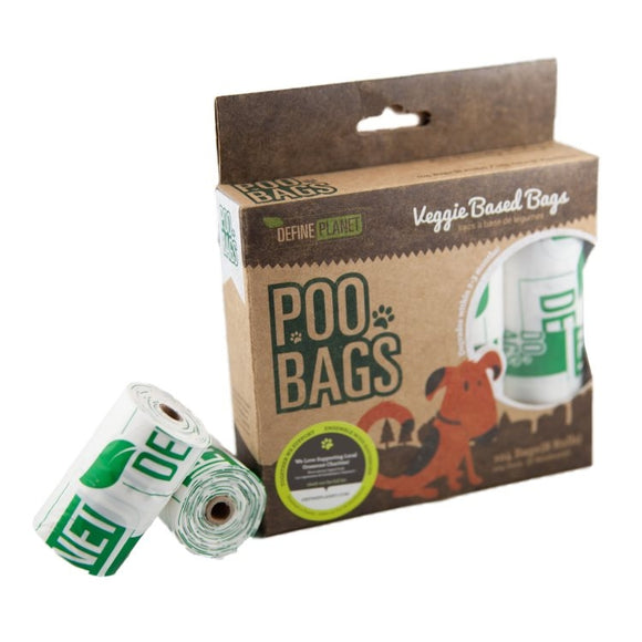 DefinePlanet POO BAGS Veggie(Compostable) 8 PK (104ct)