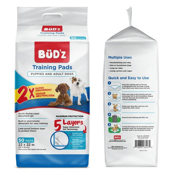 BUDZ Training Pads 50 Ct