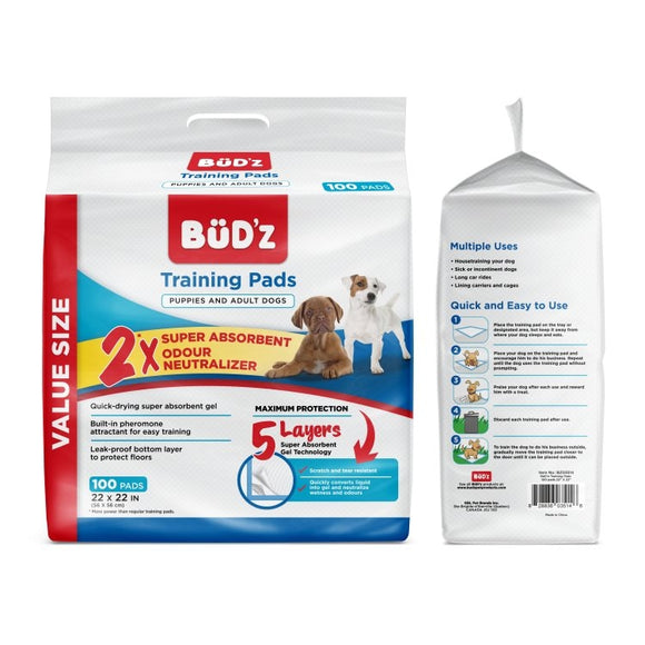 BUDZ Training Pads 100 Ct