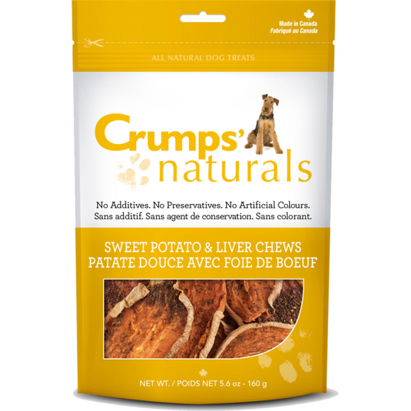 Crumps' Naturals Dog Sweet Potato & Liver Chews