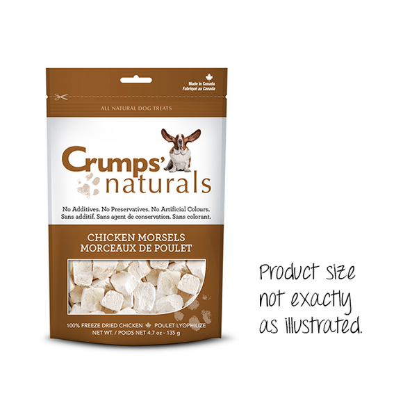 Crumps' Naturals Dog Chicken Morsels 2.3 oz