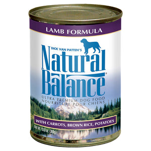 Natural Balance Lamb & Brown Rice 12/13OZ DOG