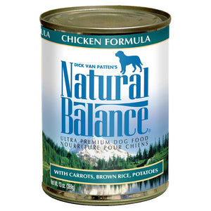 Natural Balance Chicken & Brown Rice 12/13OZ DOG