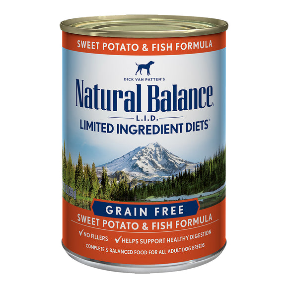 Natural Balance Grain Free Fish & Sweet Potato 12/13OZ DOG