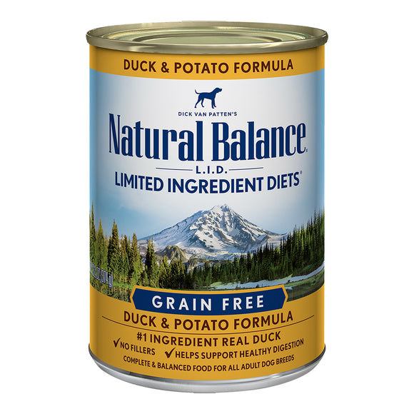 Natural Balance Grain Free Duck & Potato 12/13.2OZ DOG