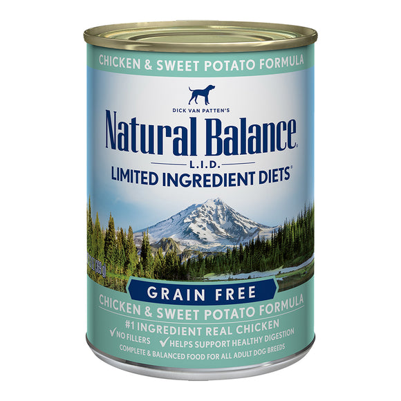 Natural Balance Grain Free Chicken & Sweet Potato 12/13OZ DOG