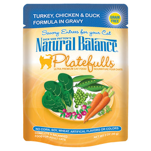 Natural Balance-Turkey, Chicken & Duck in Gravy 3oz | Cat
