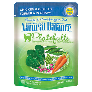 Natural Balance-Chicken & Giblets in Gravy 3OZ | Cat