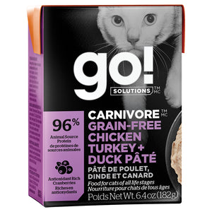 GO! Carnivore Chicken,Turkey&Duck 24/6.4OZ|Cat