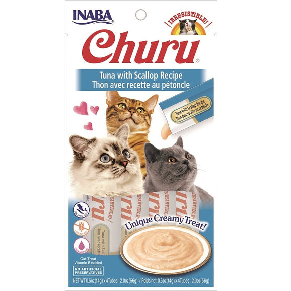 INA Churu Puree Tuna with Scallop 4pk 2oz