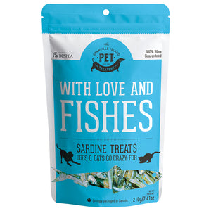 With Love & Fishes Sardine Treats 210GM