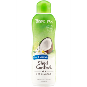 TropiClean Shed Control Shampoo Lime & Coconut 20 oz