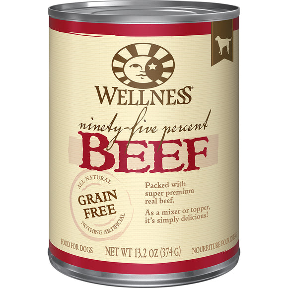 WELLNESS 95% Beef Mixer or Topper 12/13.2OZ