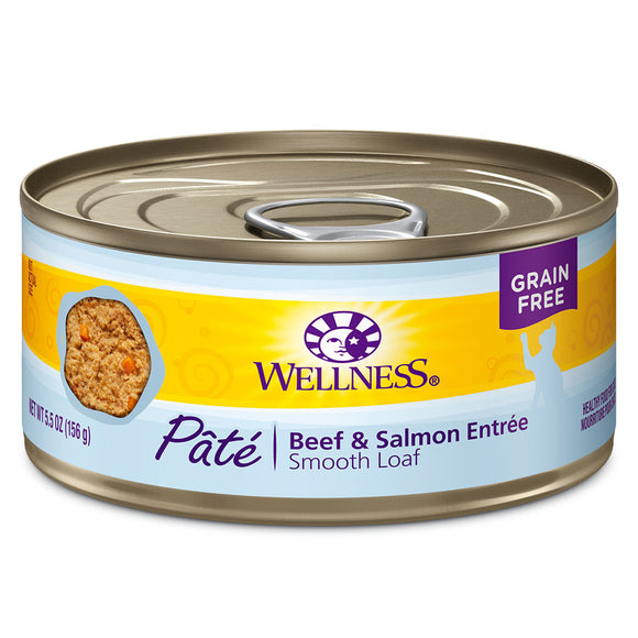 WELLNES Pate Beef & Salmon 24/5.5OZ | Cat