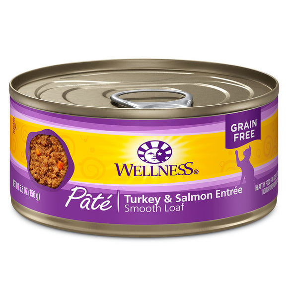 WELLNESS Pate Turkey & Salmon Entree 24/5.5OZ | Cat