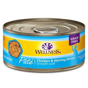 WELLNESS Pate Chicken & Herring Dinner 24/5.5OZ | Cat