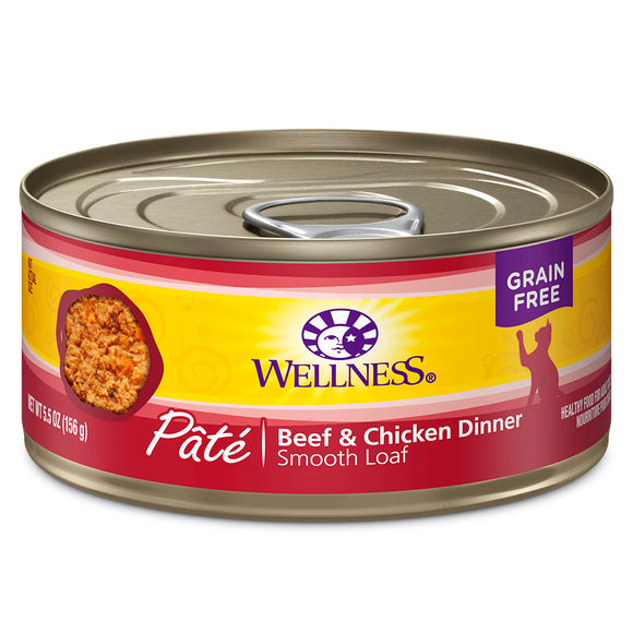 WELLNESS Pate Beef & Chicken Dinner 24/5.5OZ | Cat
