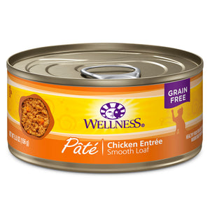 WELLNESS Pate Chicken Entree 24/5.5OZ | Cat