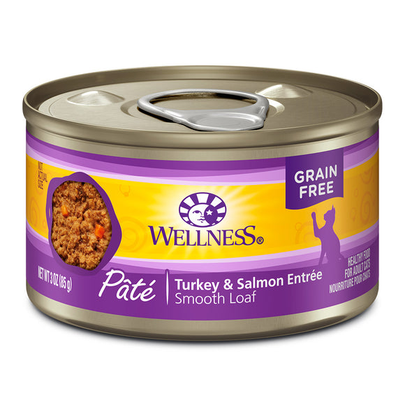 WELLNESS Pate Turkey & Salmon Entree 24/3OZ | Cat