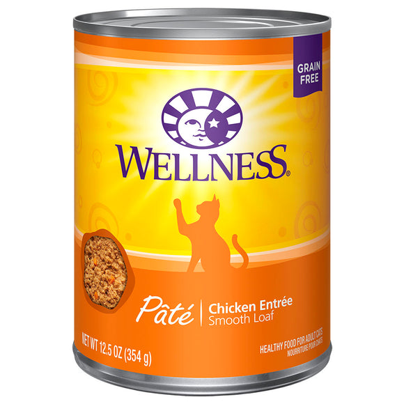 WELLNESS Pate Chicken Entree 12/12.5OZ | Cat