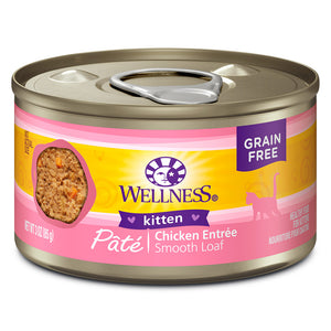 WELLNESS Pate Chicken Entree Kitten 24/3OZ | Cat