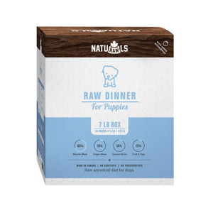 Naturawls-Frozen - Raw Dinner Puppies 14/227GM 7LB Box