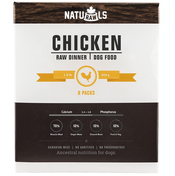 Naturawls-Frozen - Raw Chicken & Veggie 8/454GM