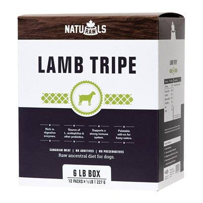 Naturawls-Frozen - Raw Lamb Tripe 12/227GM