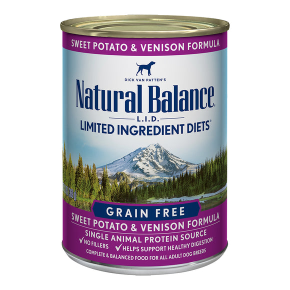 Natural Balance Grain Free Sweet Potato & Venison 12/13OZ DOG