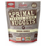 Primal Dog Freeze Dried Venison 5.5 oz & 14oz