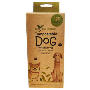 Leaf Compostable Dog Waste Bags 120 Unscented Bags