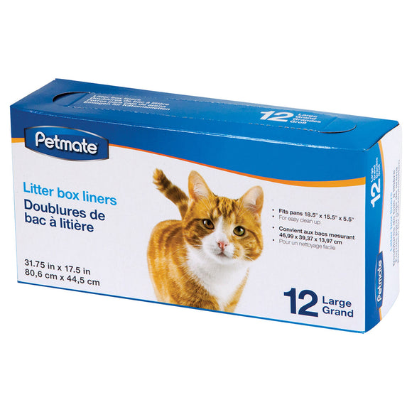 Litter Pan Liners Large 12PK