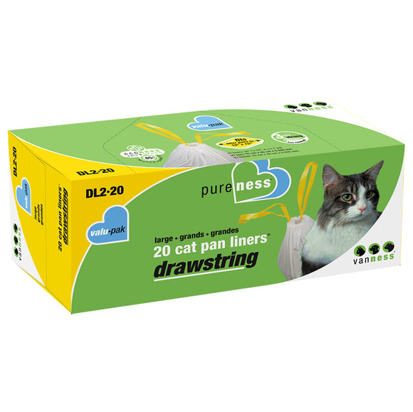 Drawstring Litter Pan Liners Large 20PK