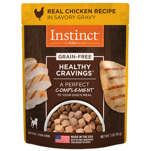 Instinct Dog Healthy Cravings GF Pouches Chicken 24/3 oz