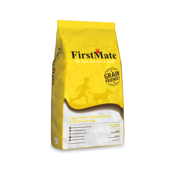 FirstMate Dog Grain Friendly Cage Free Chicken Meal & Oats